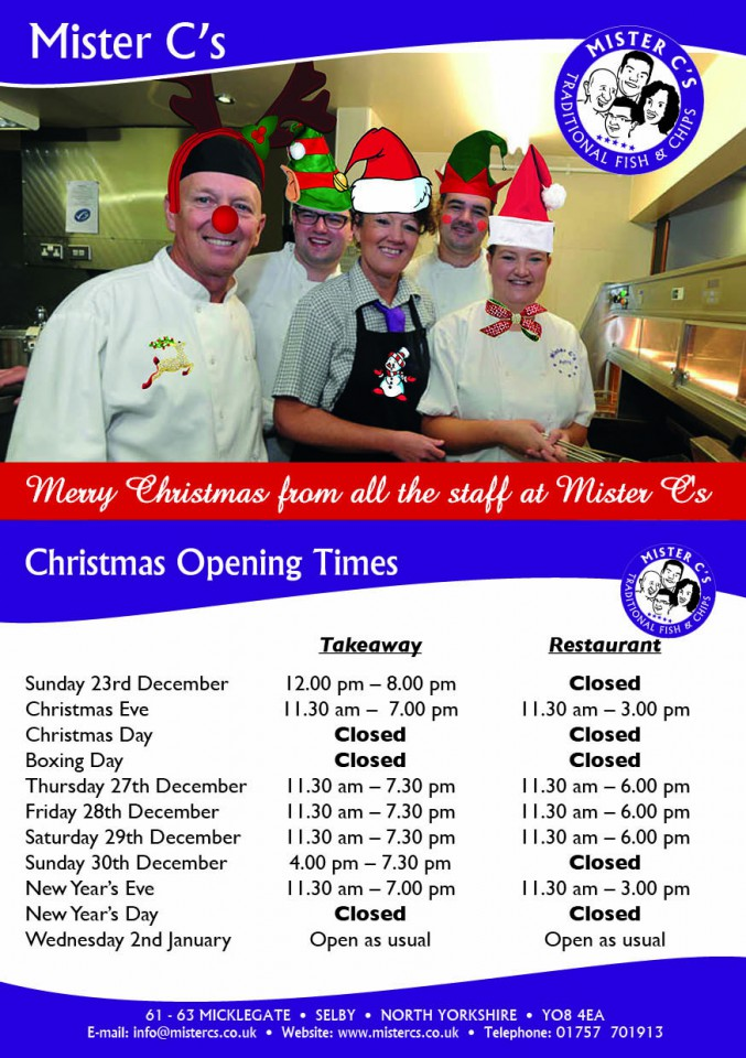 Mr C Xmas Opening Time Poster 2018